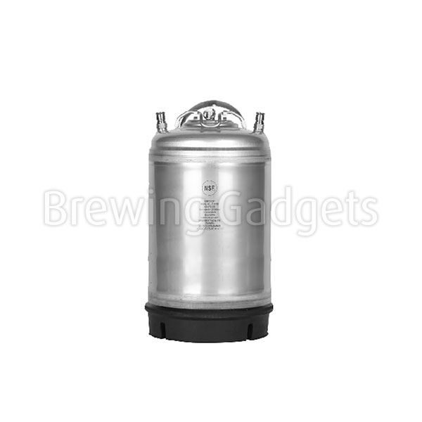 Krome 3 Gallon Ball Lock Keg - Steel Handle - NSF Certified