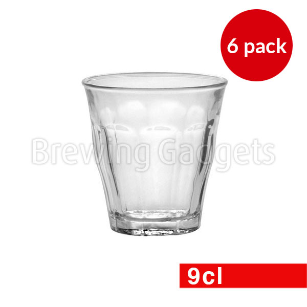 Duralex Picardie Clear Glass 6 Set of 9cl