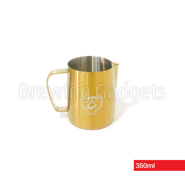 Barista Space Gold Milk Pitcher for Latte Art, 350ml