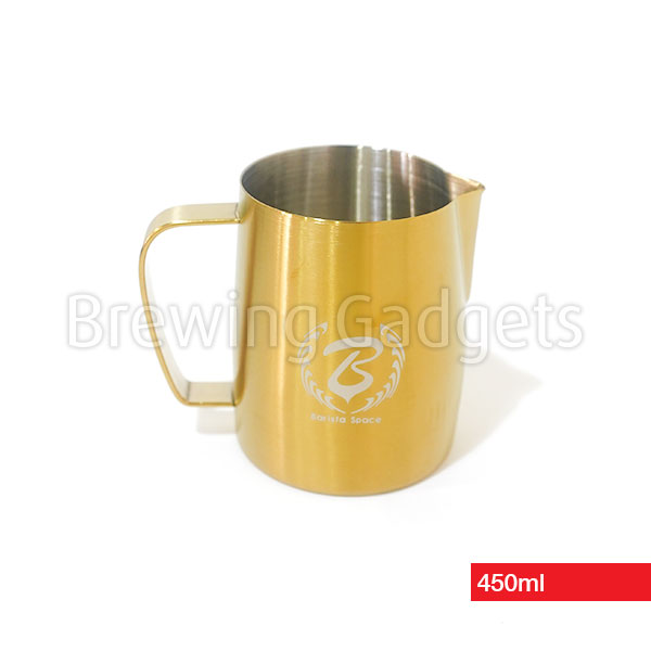 Barista Space Gold Milk Pitcher for Latte Art, 450ml