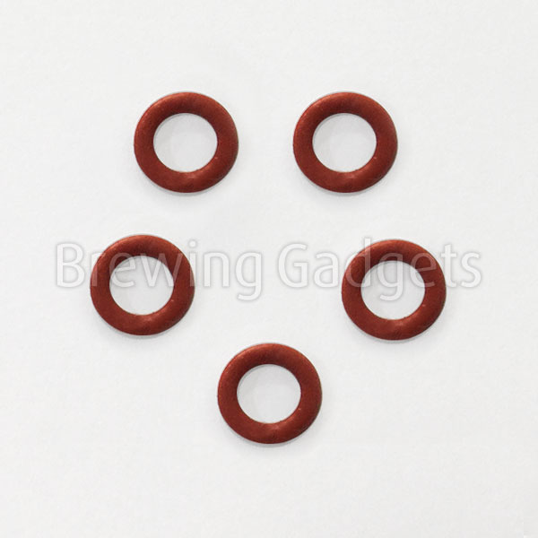 Comandante Red O-Ring - Silicon (Set of 5)