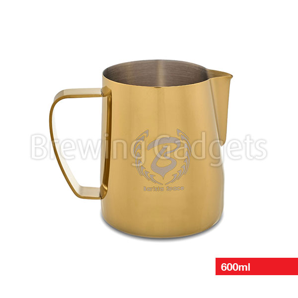 Gold Barista Space 1.0 Milk Pitcher for Coffee Latte Art