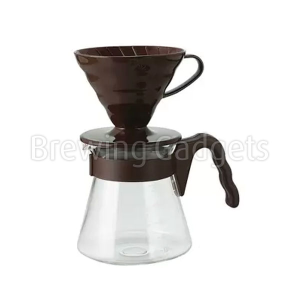 V60 Coffee Server 02 Set, Chocolate Brown