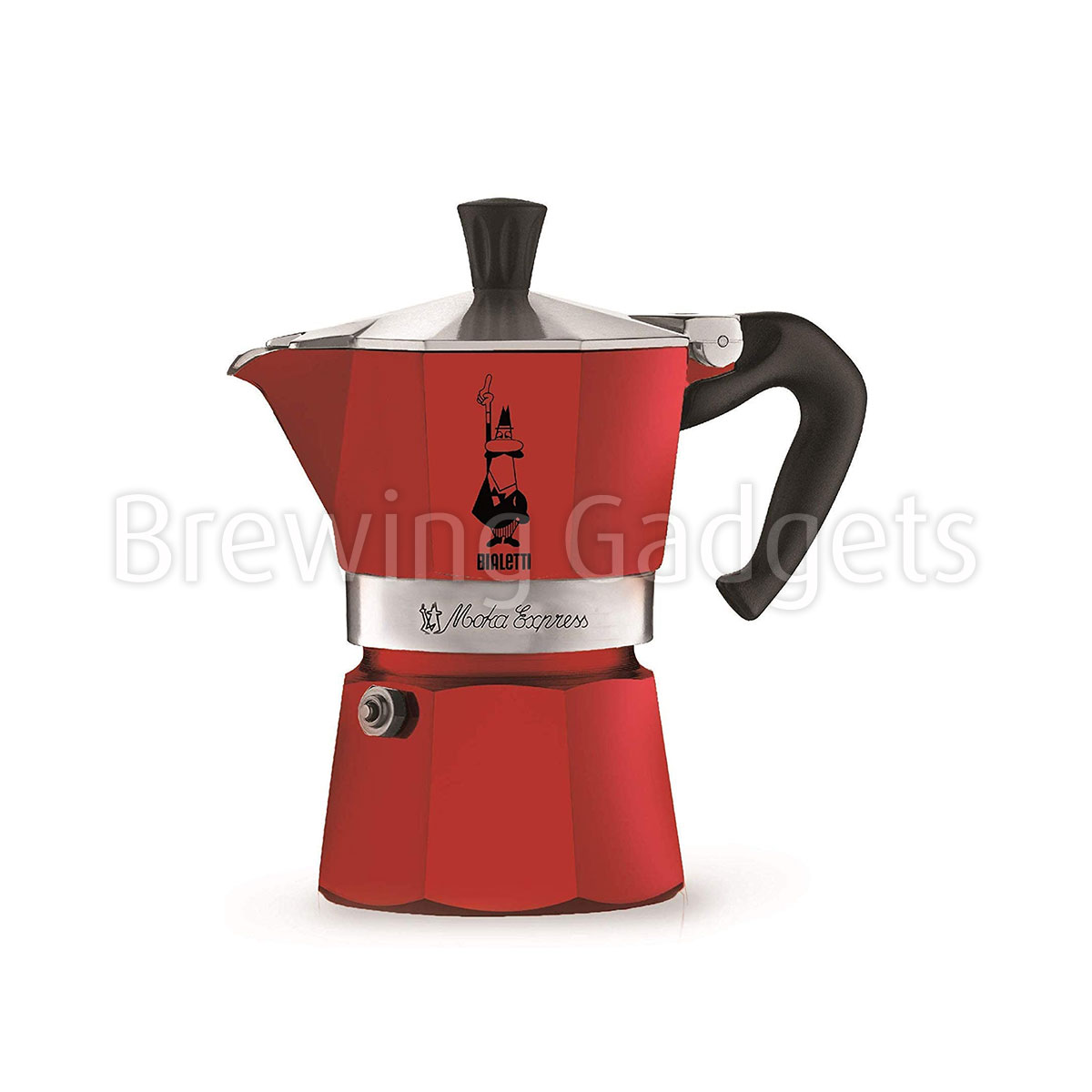 Bialetti Moka Express Coffee Maker 3 Cup, Red