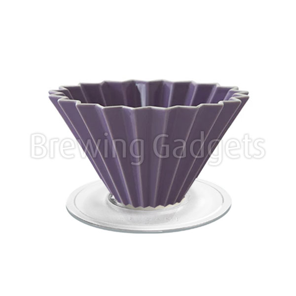 Purple Origami Dripper M with Plastic Holder