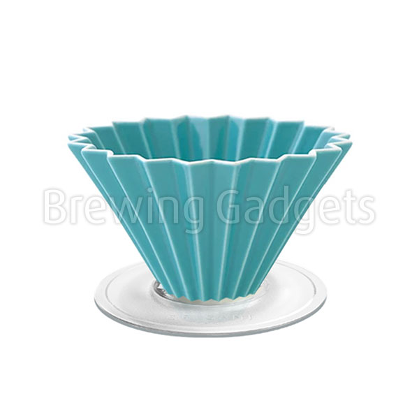 Turquoise Origami Dripper M With Plastic Holder