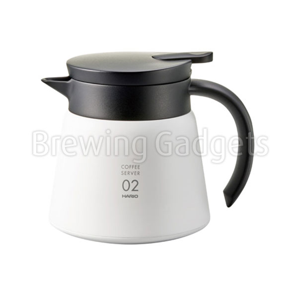 Hario V60 Insulated Stainless Steel Server 600 - White