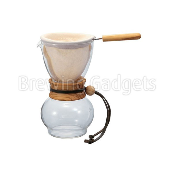 Hario 240ml Drip Pot Olive Woodneck
