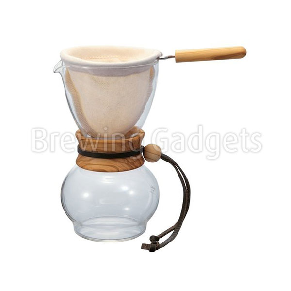 Hario 480ml Drip Pot Olive Woodneck