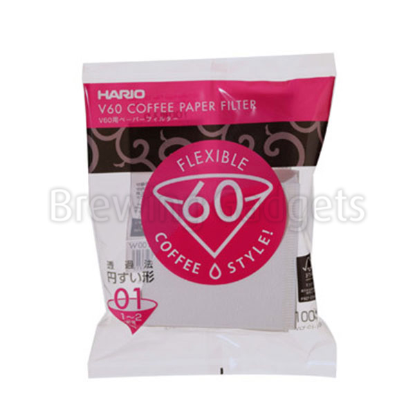 Hario V60-01 Bleached Paper Filters - 100pk